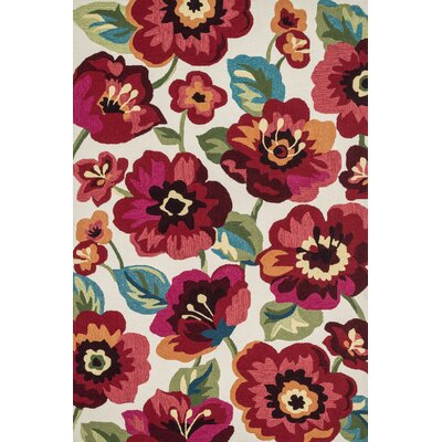 Arlie Ivory/Fuchsia Area Rug by Wildon Home ®