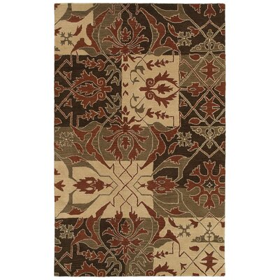Alessandra Hand-Tufted Brown Area Rug by Wildon Home ®