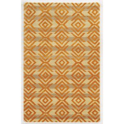 Ahyana Hand-Tufted Beige/Orange Area Rug by Wildon Home ®