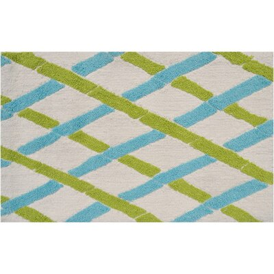 Badia Aqua/Green Area Rug by Wildon Home ®