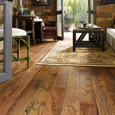 "Wildon Home ® Epic 5"" Engineered Hickory Hardwood Flooring in Burnt Sugar"