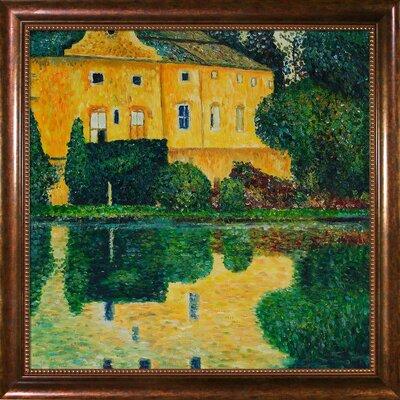 "Wildon Home ® Schloss Kammer on attersee Canvas Art by Gustav Klimt Modern - 35"" X 31"" in Verona Cafe Frame"