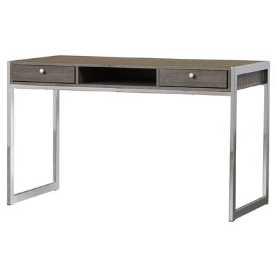 2 Drawer Chrome Writing Desk by Wildon Home ®