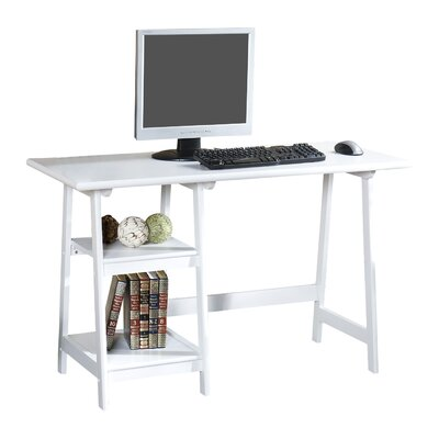 Wildon Home ® Buckingham Writing Desk with 2 Shelves