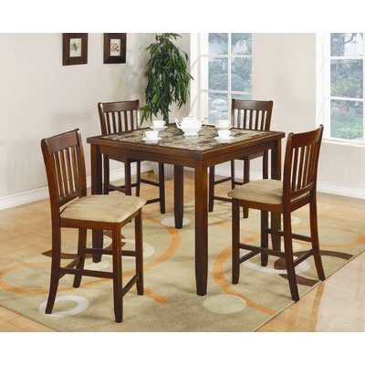 Wildon Home 174 Unity 5 Piece Counter Height Dining Set