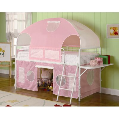 Wildon Home ® Muldoon Twin Loft Bed with Tent