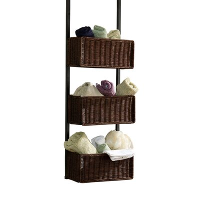 "Wildon Home ® 8.25"" Deep Lynbar Over the Door 3 Tier Basket Storage"