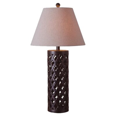 "Wildon Home ® Cut Out 29"" H Table Lamp with Empire Shade"