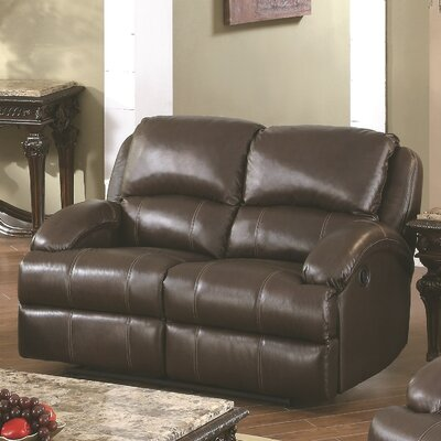 Capri Leather Reclining Loveseat by Wildon Home ®