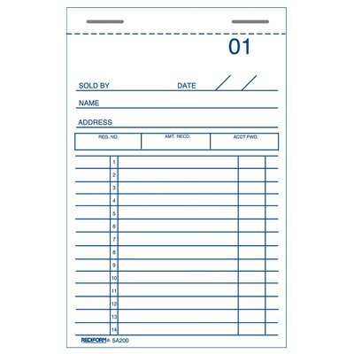 """Rediform-Blueline 3"""" x 5"""" Sales and Guest Check Book"""