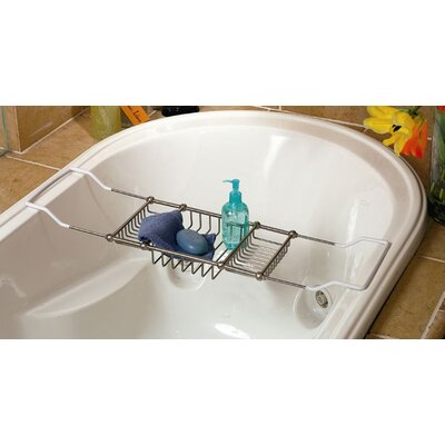 Gatco Adjustable Bath Tub Caddy in Satin Nickel