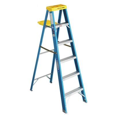 Werner 4 ft Fiberglass Step Ladder with 250 lb. Load Capacity