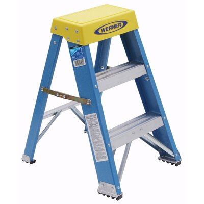 Werner 3-Step Fiberglass Step Stool with 250 lb. Load Capacity