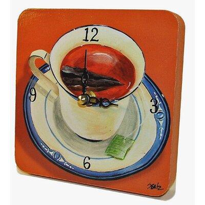 Home and Garden Cup of Tea Tiny Times Clock by Lexington Studios