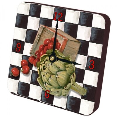 Artichoke Checker Tiny Times Clock by Lexington Studios