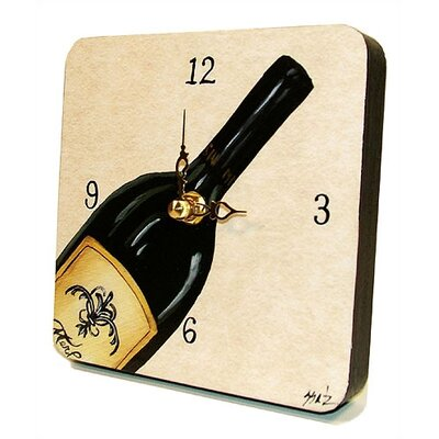 Home and Garden Bottle of Red Tiny Times Clock by Lexington Studios