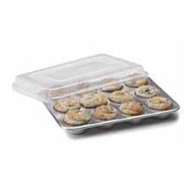 Nordic Ware Natural Commercial 12 Cup Muffin Pan with Lid
