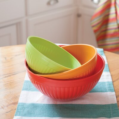 3 Piece Prep and Serve Mixing Bowl Set by Nordic Ware