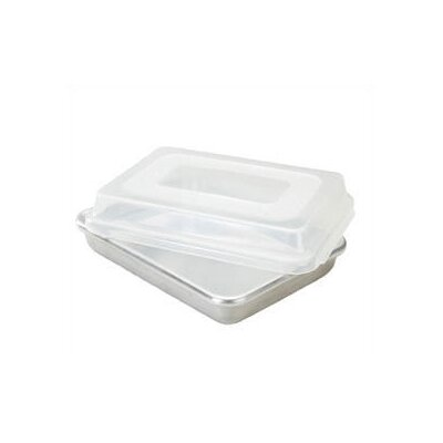 Nordic Ware Natural Commercial Rectangular Cake Pan with Lid