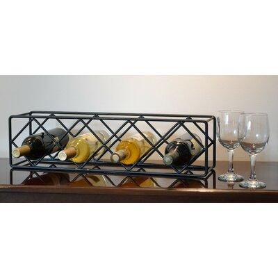 4 Bottle Tabletop Wine Rack by J & J Wire