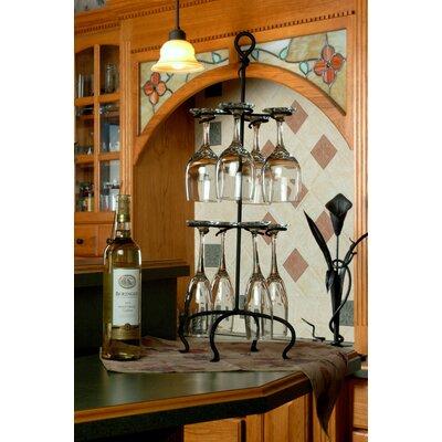 8 Glass Freestanding Wine Glass Rack by J & J Wire