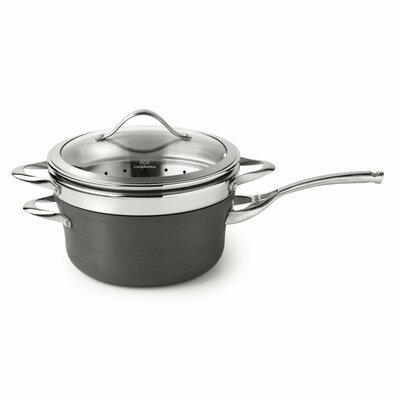 Contemporary Nonstick 4.5 Qt. Saucepan with Lid by Calphalon