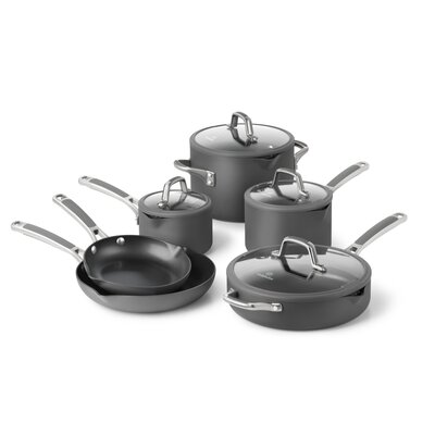 Easy System Nonstick 10 Piece Cookware Set by Calphalon