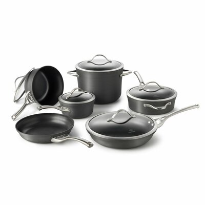 Contemporary Nonstick 11 Piece Cookware Set by Calphalon