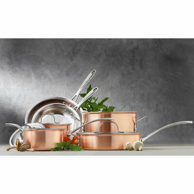 Calphalon Try Ply Stainless Steel 10 Piece Cookware Set