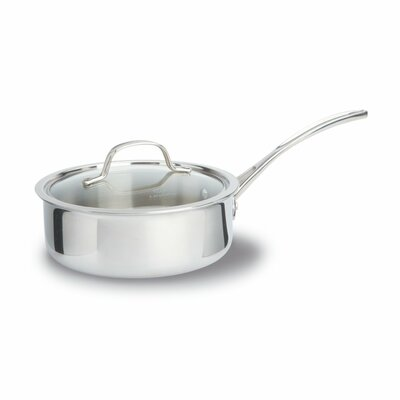 Tri-Ply Stainless Steel 2.5-qt. Saucier with Lid by Calphalon