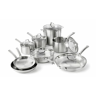 Stainless Steel 14 Piece Cookware Set by Calphalon