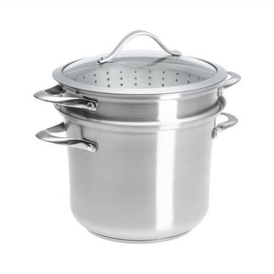 Contemporary Stainless Steel 8-qt. Multi-Pot with Lid by Calphalon