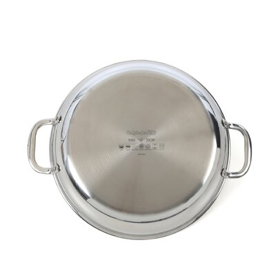 """Calphalon Tri-Ply Stainless Steel 12"""" Frying Pan with Lid"""