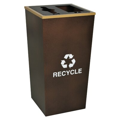 Ex-Cell Metro 34-Gal Indoor Multi Compartment Recycling Bin