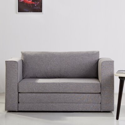 Corona Convertible Sleeper Loveseat in Ash by Gold Sparrow