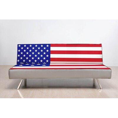 Gold Sparrow American Flag Convertible Sofa