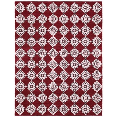 Jacquard Hand-Woven Red Area Rug by St. Croix