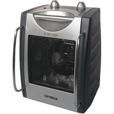 Optimus 1,500 Watt Portable Electric Fan Compact Heater with Thermostat