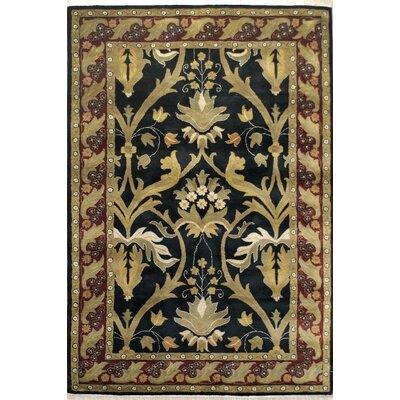 American Home Rug Co. American Home Classic Arts & Crafts Black/Burgundy Area Rug