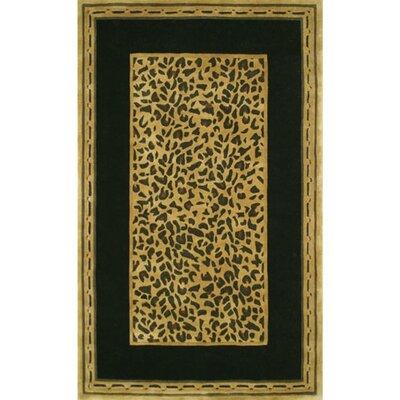 American Home Rug Co. African Safari Gold/Black Cheetah Print Area Rug