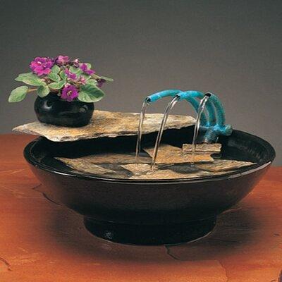 Ceramic Nature Bowl Tabletop Fountain by Nayer Kazemi