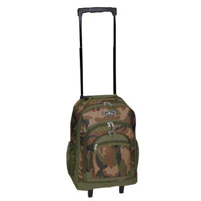 Woodland Camouflage Wheeled Backpack by Everest