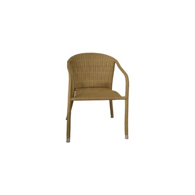 Blue Star Group Terrace Mates Wicker Stacking Dining Arm Chairs