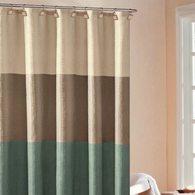 Hampton Hotel Color Block Shower Curtain by DR International