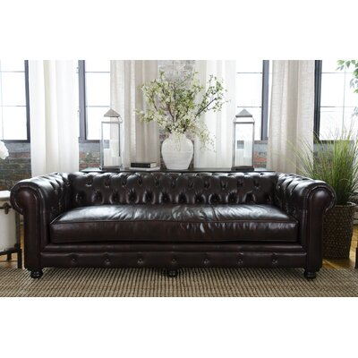 Estate Top Grain Leather Sofa by Elements Fine Home Furnishings
