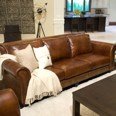 Paladia Leather Sofa by Elements Fine Home Furnishings