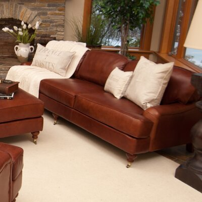 Cambridge Leather Sofa by Elements Fine Home Furnishings