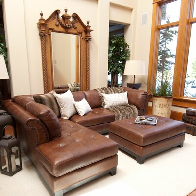 Corsario Leather Sectional by Elements Fine Home Furnishings