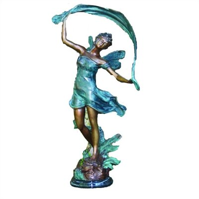 Dancing Faerie Statue by Brass Baron