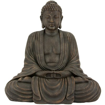 Japanese Sitting Buddha Statue by Oriental Furniture
